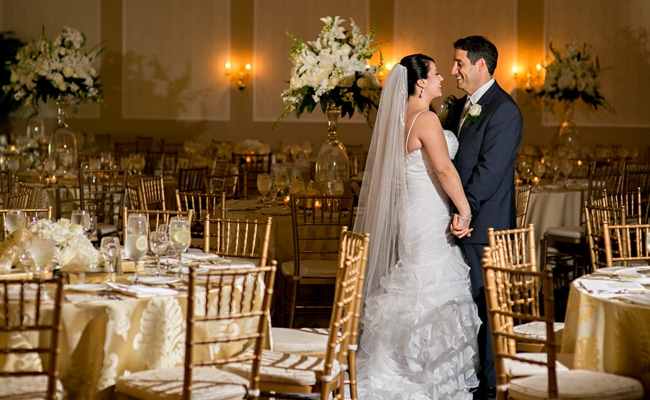 Elegant Gold and White Wedding