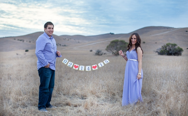 Valentine's Day Themed Engagement Shoot