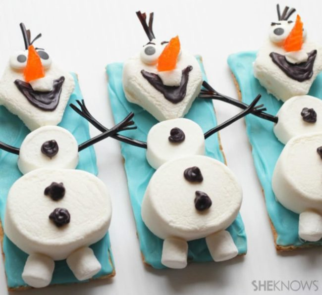 Olaf Graham Cracker Party Treat - Frozen Party Ideas