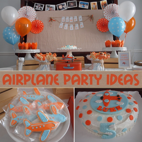 Airplane birthday party ideas on Pretty My Party