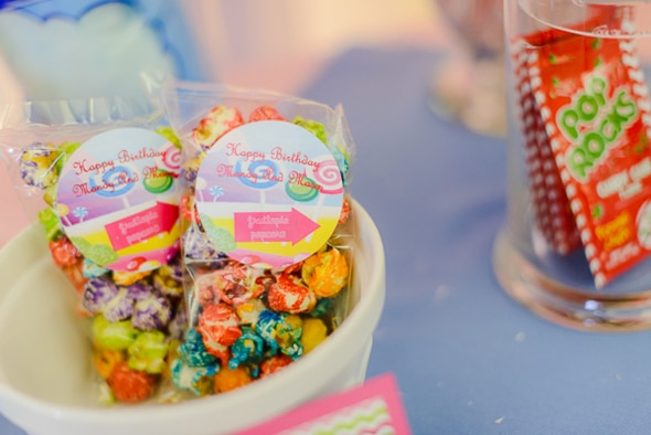 Colorful Candyland Popcorn Party Favors