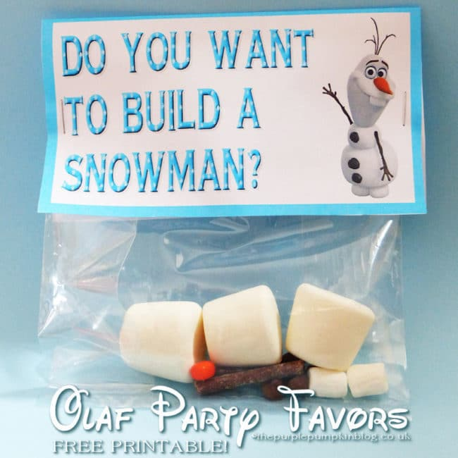 Do You Want To Build A Snowman Olaf Party Favors - Frozen Party Favor