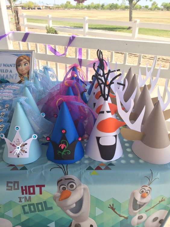 Frozen Party Hats - Frozen Party Ideas