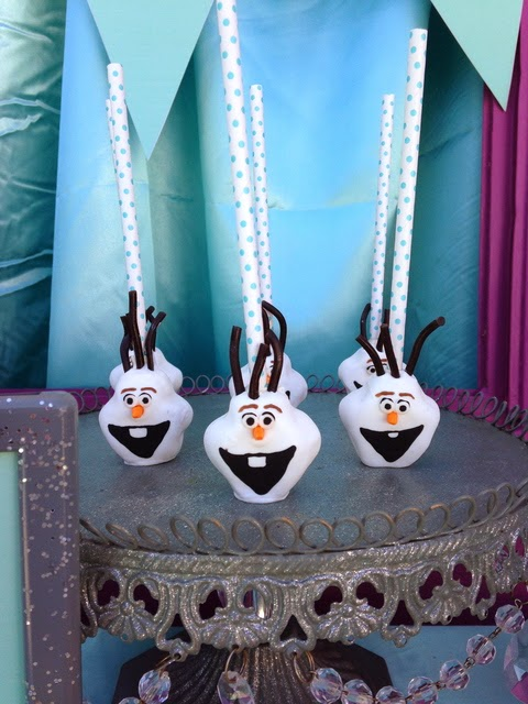 Olaf Cake Pops - Frozen Birthday Party Food Ideas