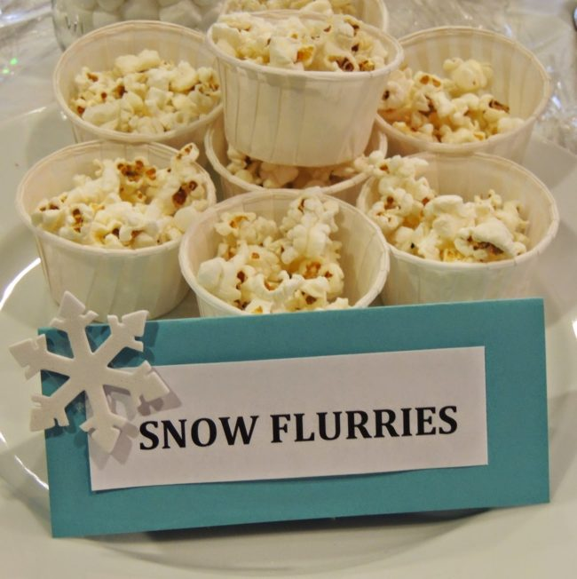 Snow Flurries Popcorn - Frozen Party Ideas