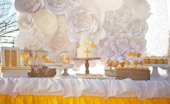 Yellow Themed First Communion Styled Photoshoot