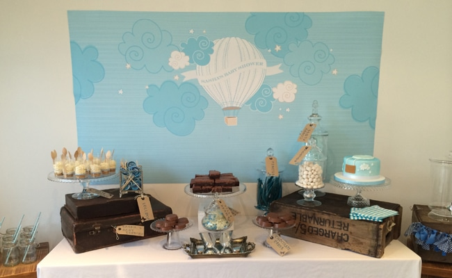 Hot Air Balloon Baby Boy Shower
