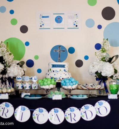 Fun Confetti First Communion Celebration