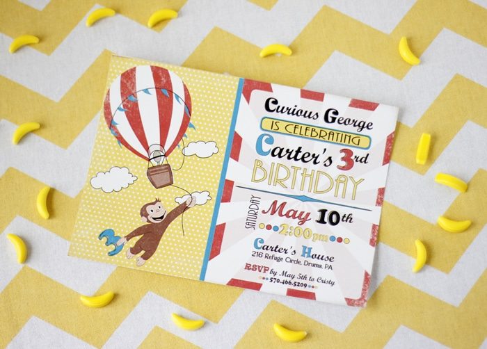 Curious George Birthday Party Curious George Birthday Pretty My