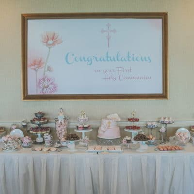 Tea Party Themed First Communion Party