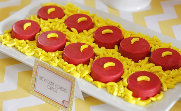 Chocolate Covered Oreos - Curious George Party Ideas