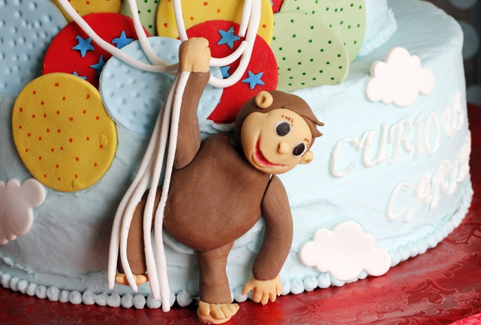 Curious George Monkey Cake | Curious George Party Ideas