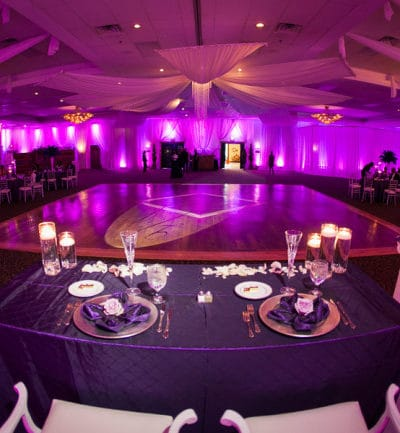 All Things Purple and Bling Wedding