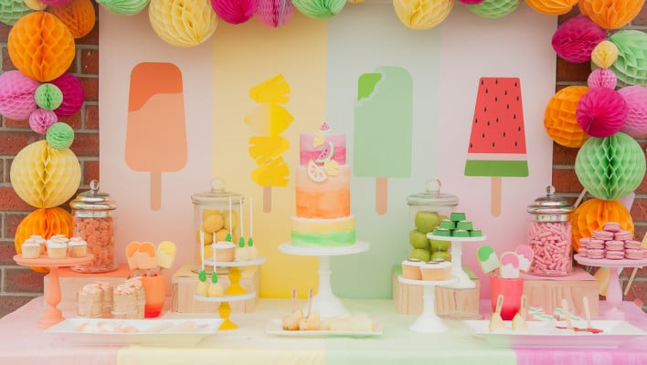 Pretty Pastel Popsicle Birthday Theme