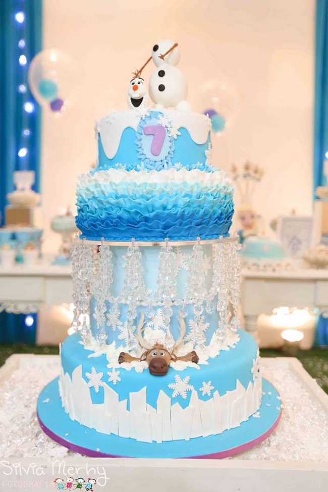 Frozen Olaf Birthday Cake