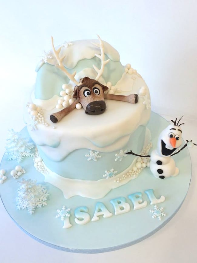 15 Amazing Frozen Inspired Cakes Pretty My Party Party Ideas