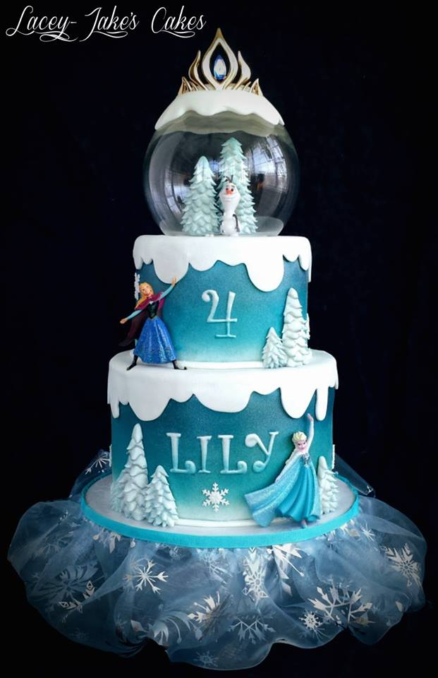 Disney Frozen Snow Globe Cake