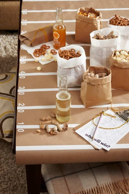 Craft Paper Football Field Table Cover