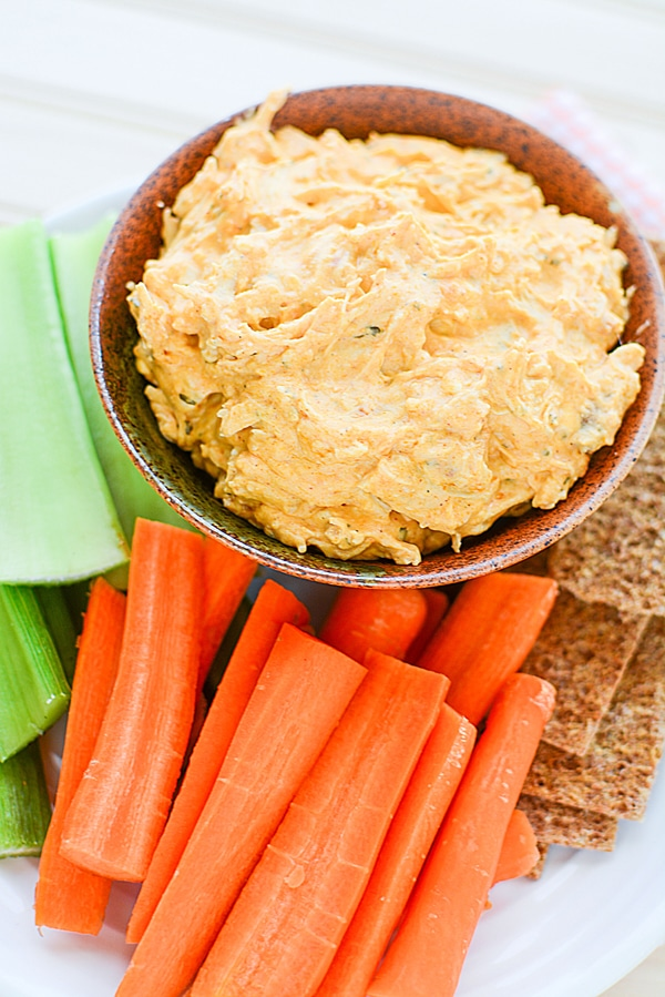 Easy Crockpot Buffalo Chicken Dip Recipe on Pretty My Party