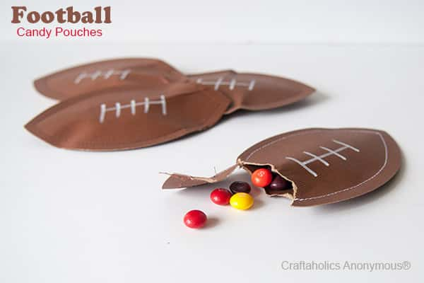 Football Party Candy Pouches Party Favors