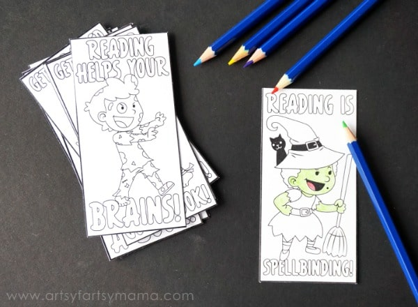 Free Halloween Bookmarks For Kids