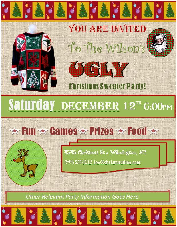 10 Tips for planning the ultimate ugly sweater party on Pretty My Party