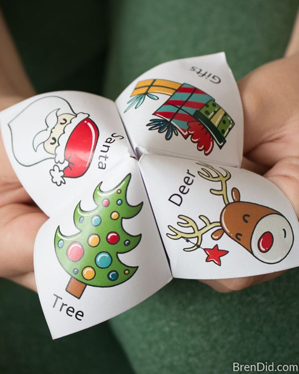 Free Printable Christmas Fortune Teller For Kids