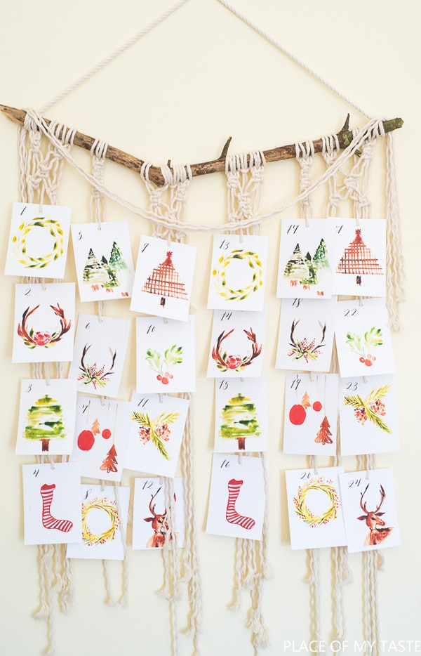 Christmas Countdown Printable Cards