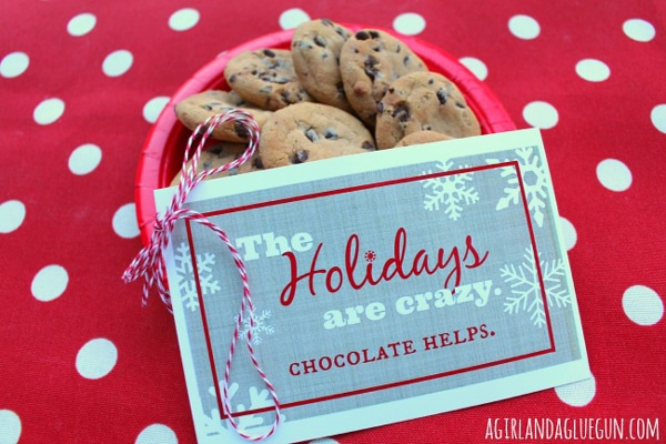 Free Chocolate Christmas Printables