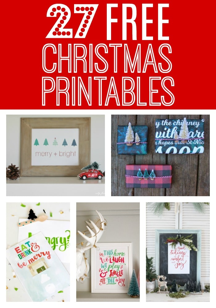 27 FREE Christmas Printables on Pretty My Party
