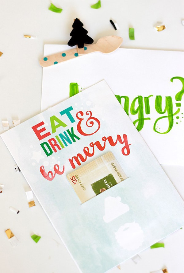 Free Gift Card Holder Holiday Printable