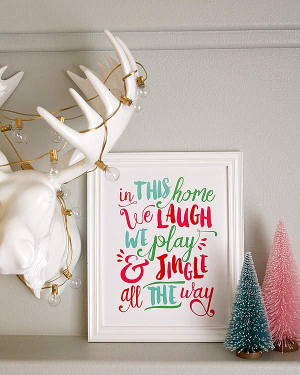 Jingle All The Way Free Christmas Printable