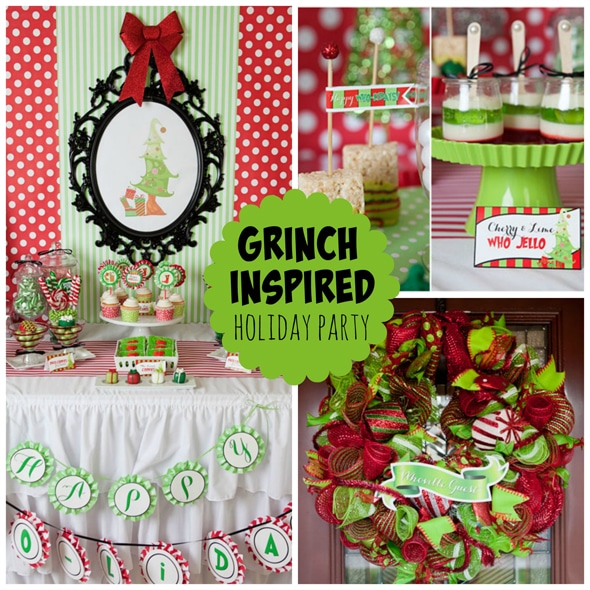 grinch inspired holiday party