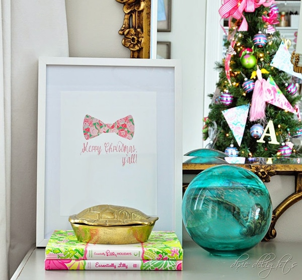 Free Lilly Pulitzer Inspired Christmas Printable Sign
