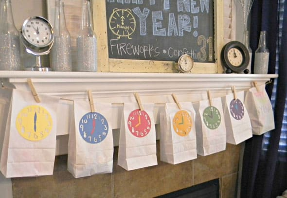 New Year's Eve DIY Countdown Bags - Kid-Friendly New Year's Eve Ideas