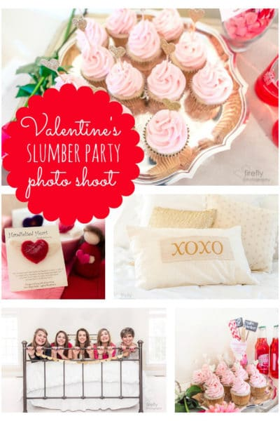 Valentines Day Slumber Party Styled Shoot