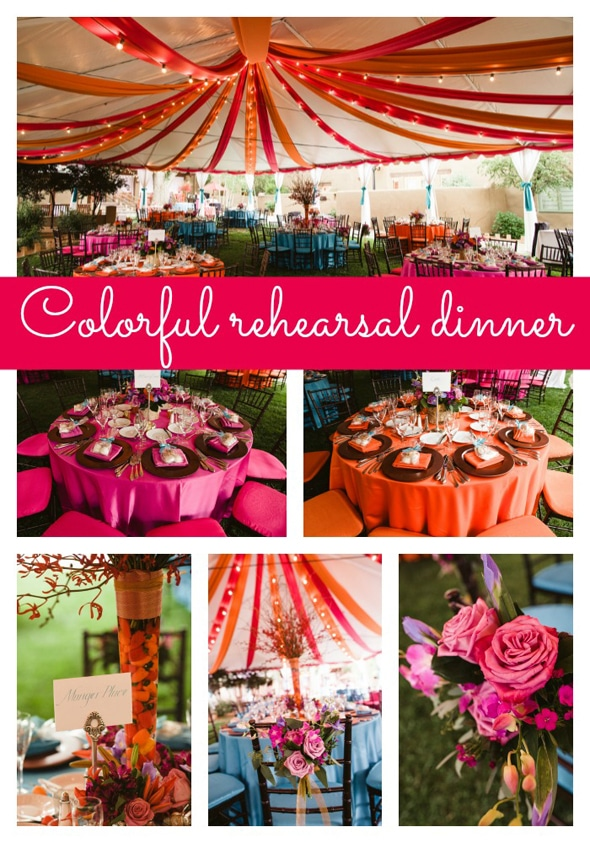 Colorful Rehearsal Dinner Pretty My Party Party Ideas