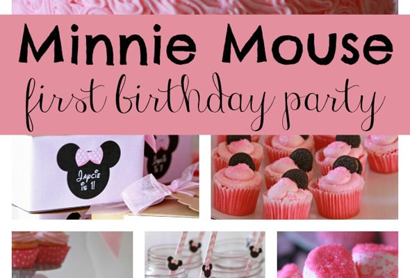 Sweet Minnie Mouse First Birthday