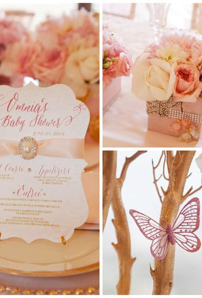 Pink And Gold Baby Shower Decorations Tag Archives Pretty My Party