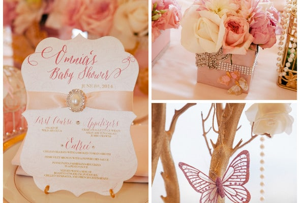 Whimsical Pink and Gold Baby Shower