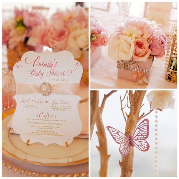 Baby Shower Ideas In Pink And Gold whimsical pink and gold baby shower - pretty my party - party ideas