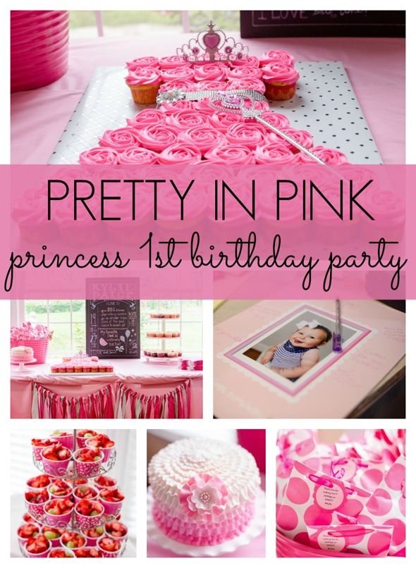 Pretty In Pink First Birthday Party Pretty My Party Party Ideas