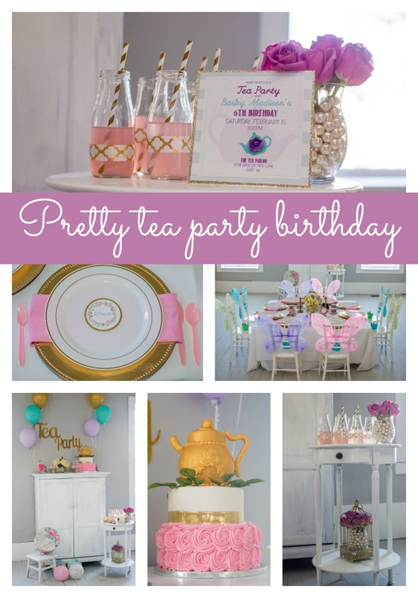 Pretty Tea Party Themed Birthday Pretty My Party Party