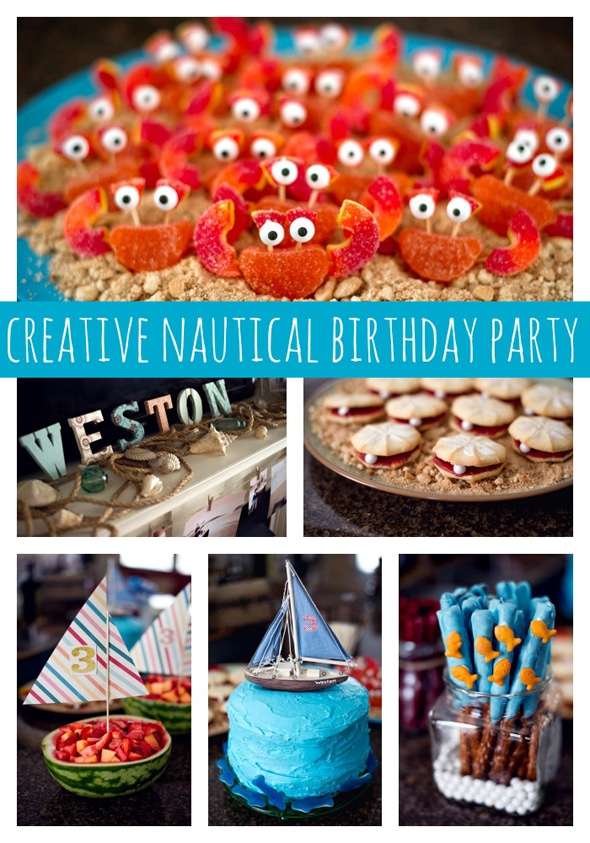 Creative Nautical Birthday Party Pretty My Party Party Ideas
