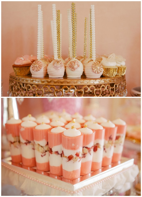 Whimsical Pink and Gold Baby Shower - Pretty My Party - Party Ideas