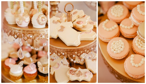 Whimsical Pink And Gold Baby Shower Pretty My Party