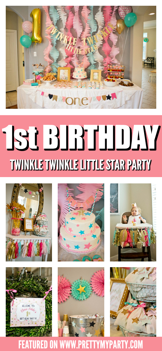 Twinkle Twinkle Little Star First Birthday on Pretty My Party