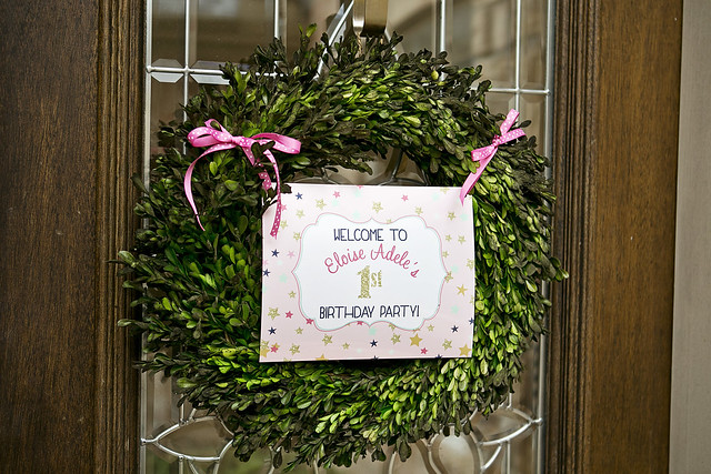 Twinkle Twinkle Little Star 1st Birthday Welcome Sign