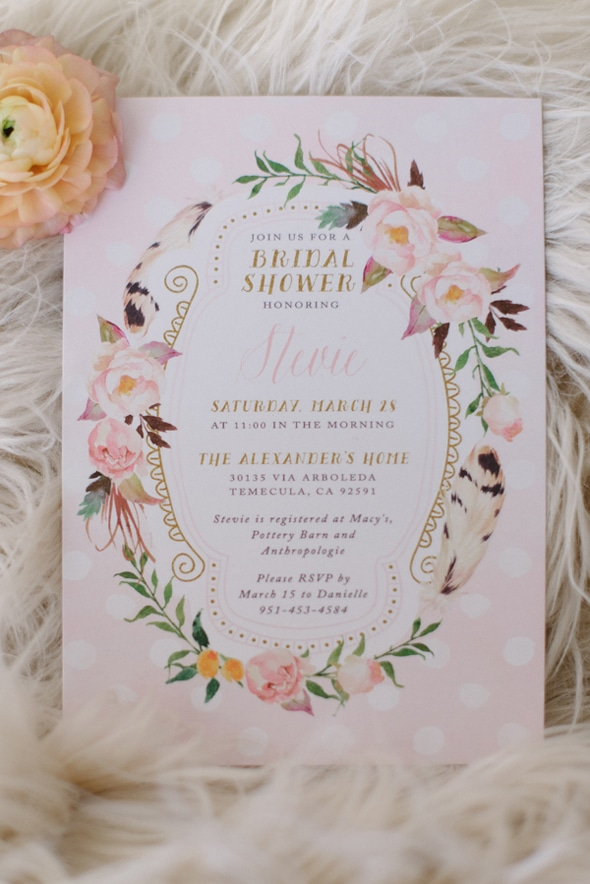 Vintage Bridal Shower Invite