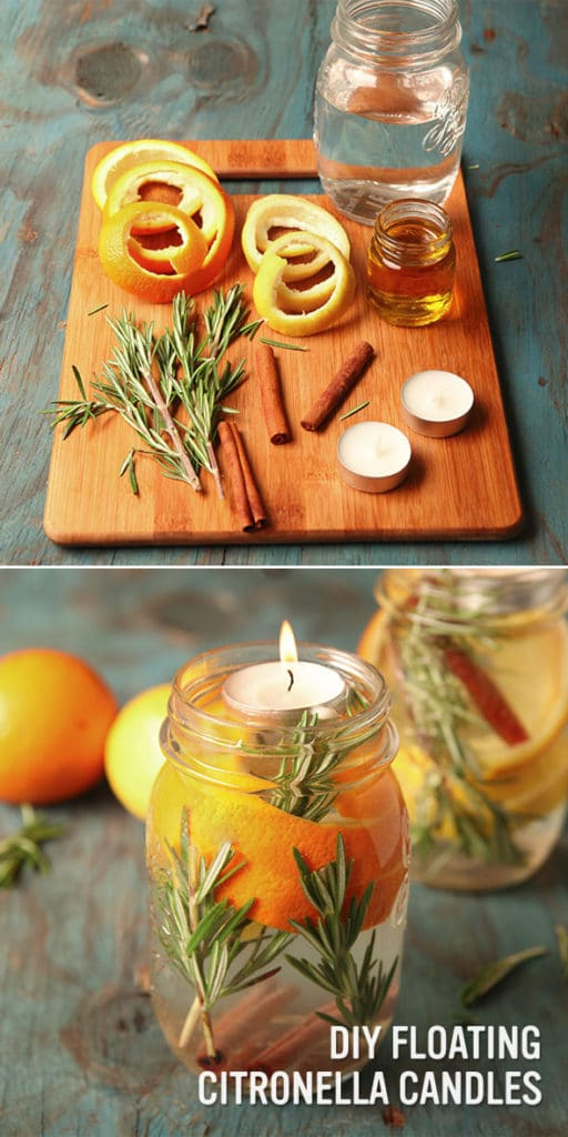 DIY Floating Citronella Candles - Summer Entertaining Hacks